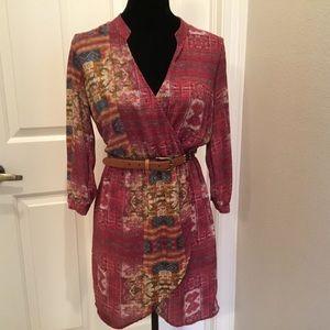 Forever 21 Contemporary Aztec Wrap Dress